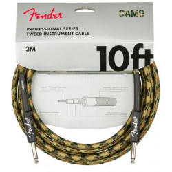 FENDER CABLE PROFESSIONAL SERIES 10' WOODLAND CAMO