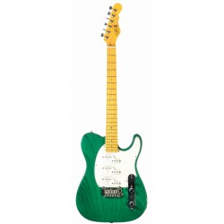G&L ASAT Z3 (Clear Forest Green, maple, 3-ply Pearl)