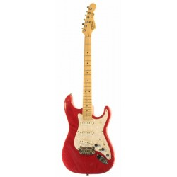 G&L S500 (Clear Red, Maple, 3-ply Pearl)