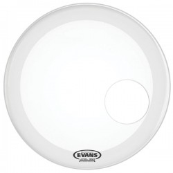 "EVANS BD22RSW 22"" EQ3 RESO SMOOTH WHITE"
