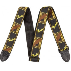 FENDER 2' MONOGRAMMED BLACK/YELLOW/BROWN STRAP
