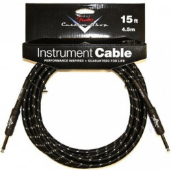 FENDER CUSTOM SHOP CABLE 15' BLACK TWEED