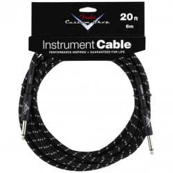 FENDER CUSTOM SHOP CABLE 20' BLACK TWEED