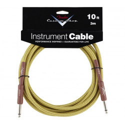 FENDER CUSTOM SHOP PERFORMANCE CABLE 10' TW
