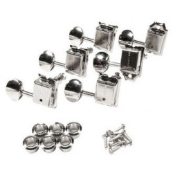 FENDER PURE VINTAGE GUITAR TUNING MACHINES NICKEL/CHROME (6)