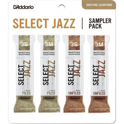 D`ADDARIO Select Jazz Reed Sampler Pack - Baritone Sax 3S/3M