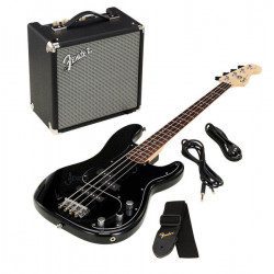 FENDER SQUIER PJ BASS PACK BLACK