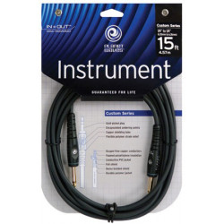 PLANET WAVES PW-G-15 Custom Series Instrument Cable 15ft
