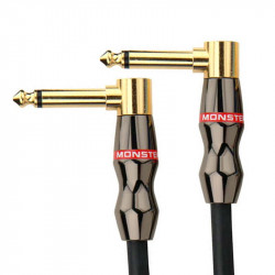 """Monster Jazz Instrument Cable 8 in. - angled 1/4"""" plugs (0,2 м)"""