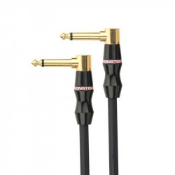 Monster Bass Instrument Cable - 8 in. angled 1/4 plugs (0,2 м)