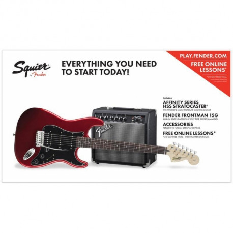 FENDER SQUIER STRAT PACK HSS CANDY APPLE RED