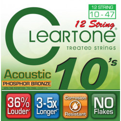 CLEARTONE 7410-12 ACOUSTIC PHOSPHOR BRONZE 12-STRING ULTRA LIGHT 10-47