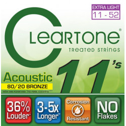 CLEARTONE 7611 ACOUSTIC 80/20 BRONZE ULTRA LIGHT 11-52