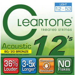 CLEARTONE 7612 ACOUSTIC 80/20 BRONZE LIGHT 12-53
