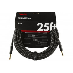 FENDER CABLE DELUXE SERIES 25' BLACK TWEED
