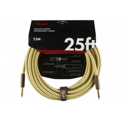 FENDER CABLE DELUXE SERIES 25' TWEED