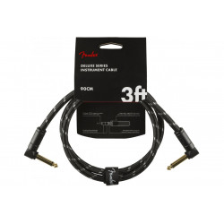 FENDER CABLE DELUXE SERIES 3' BLACK TWEED