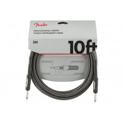 FENDER CABLE PROFESSIONAL SERIES 10' GREY TWEED