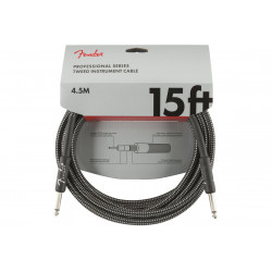 FENDER CABLE PROFESSIONAL SERIES 15' GREY TWEED