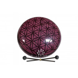 PALM PERCUSSION METAL TONGUE DRUM 8 LEAFS MAROON