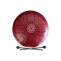 PALM PERCUSSION METAL TONGUE DRUM 8 LEAFS SPOT RED DOFF