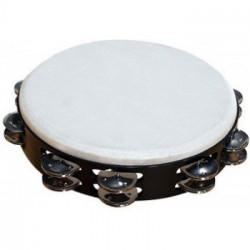 PALM PERCUSSION TAMB-BLK 10 DRUMHEAD TAMBOURINE