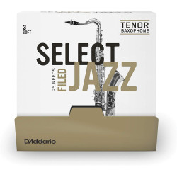 D`ADDARIO RSF01TSX3S-B25 Select Jazz - Tenor Sax Filed 3S - 25 Box