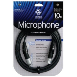 PLANET WAVES PW-MS-10 Custom Series Swivel Microphone Cable 10ft