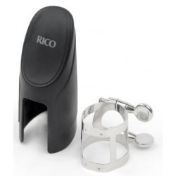 RICO RSS1N Rico Ligature & Cap - Soprano Sax Nickel Plated