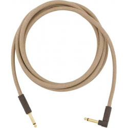 FENDER 10' ANGLED FESTIVAL INSTRUMENT CABLE PURE HEMP NATURAL