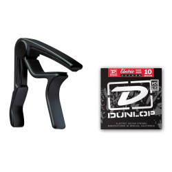 DUNLOP 87BE 10EL TRIGGER ELECTRIC CAPO PLUS STRINGS