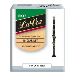 RICO La Voz - Bb Clarinet Medium Hard - 10 Box