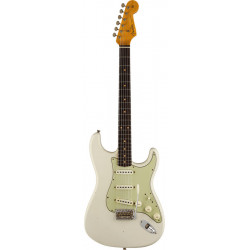 FENDER CUSTOM SHOP LIMITED EDITION '62/'63 STRATOCASTER JOURNEYMAN RELIC RW AGED OLYMPIC WHITE